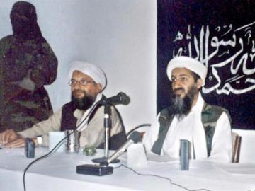 Una foto de archivo del fallecido líder de Al Qaeda Osama Bin Laden