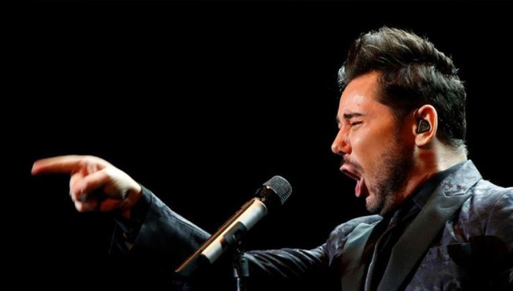 Miguel Poveda en uno de sus conciertos