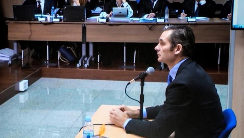 Iñaki Urdangarin durante su declaración ante el juez