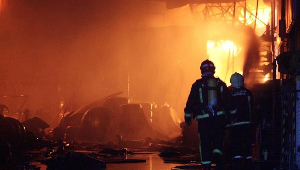 Incendio en los cines de imaginalia, en Albacete