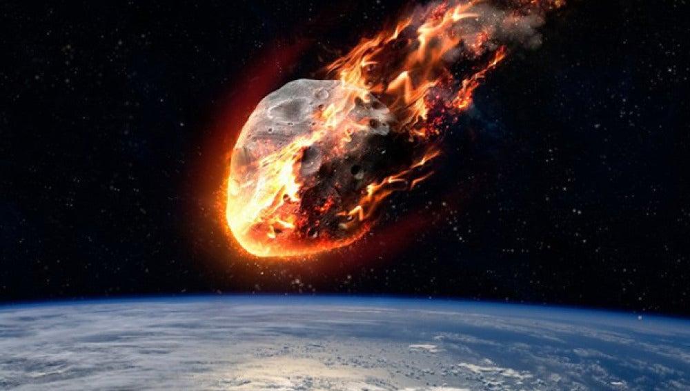 Recreación de un asteroide cercano a la tierra