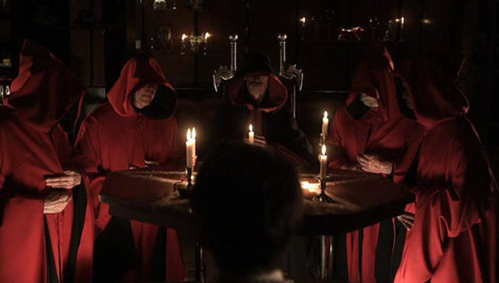 Imagen de un ritual satánico