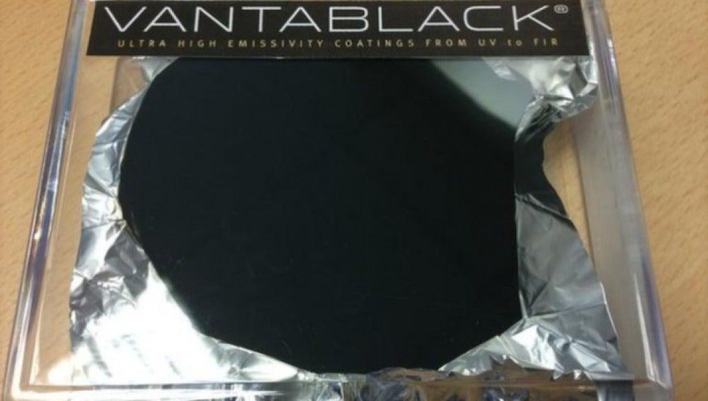 Imagen del pigmento 'Vantablack'