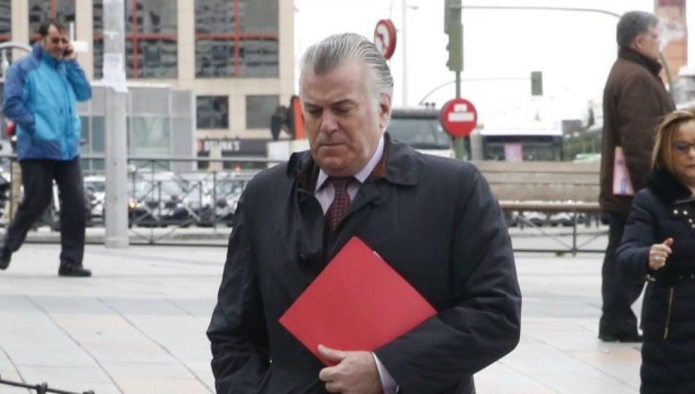 Luis Bárcenas, a su salida del juzgado