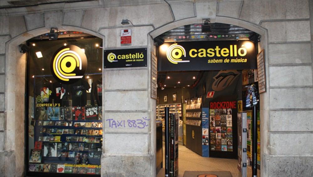 Fachada de la tienda Discos Castelló