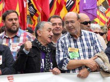 El secretario general de UGT en Cataluña, Josep Maria Álvarez