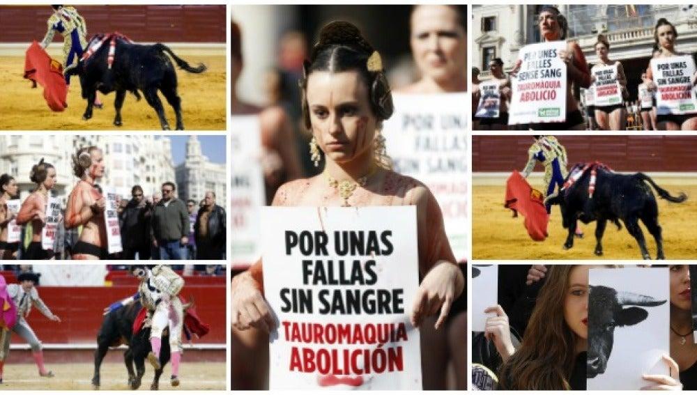 Taurinos y antitaurinos se enfrentan en las Fallas de Valencia