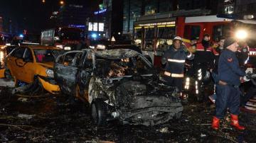 Coche bomba del atentado en Ankara