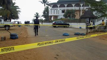 Cordón policial tras el atentado en Costa de Marfil