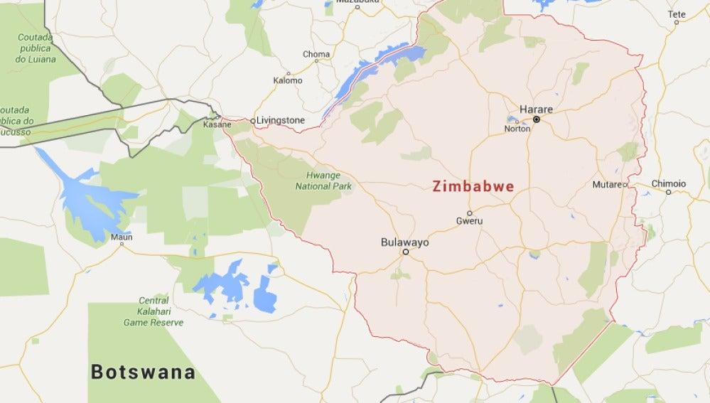 Localización de Zimbawe