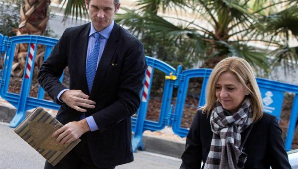 La infanta Cristina, junto a su esposo Iñaki Urdangarin