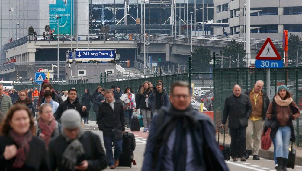 Aeropuerto de Bruselas tras el atentado