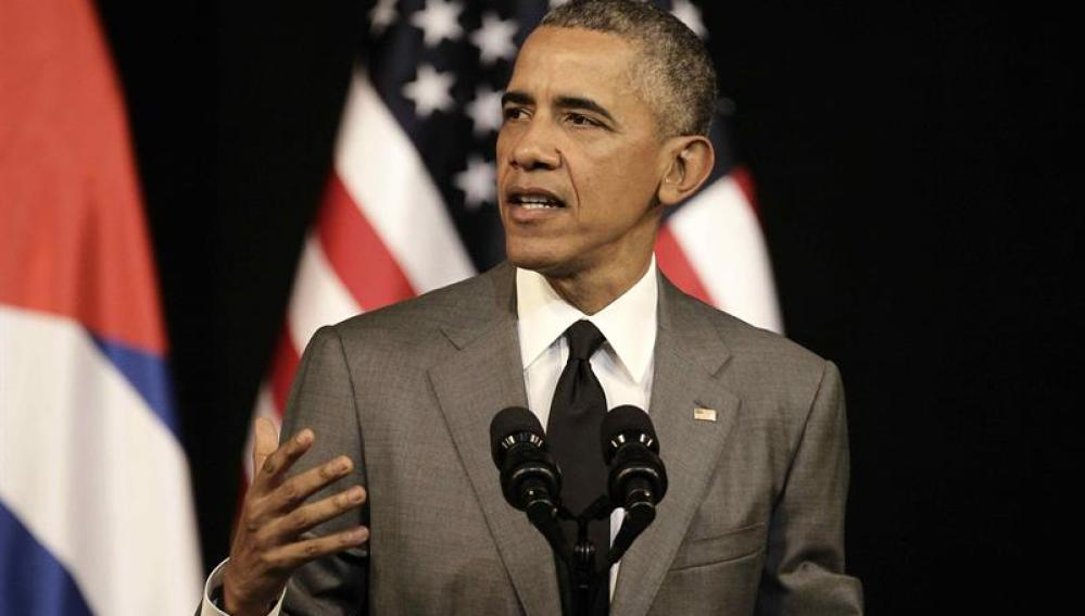 Obama hablando ante el pueblo cubano