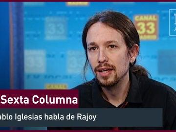 """2012. El entonces presentador de """"La Tuerka"""", Pablo Iglesias, valora a Rajoy"""