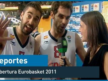 2011. Carlota Reig entrevista a Calderón y Navarro en la final del europeo de baloncesto - Deportes - laSexta 15º aniversario