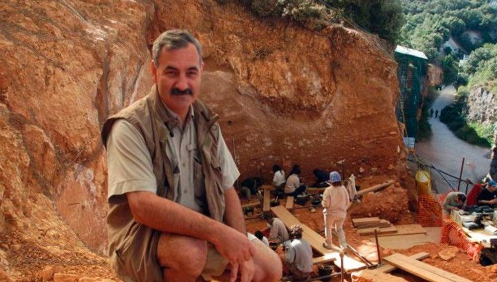 El Codirector de las excavaciones de Atapuerca, José María Bermúdez de Castro