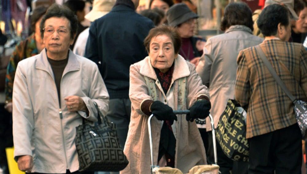 Imagen de dos ancianas japonesas