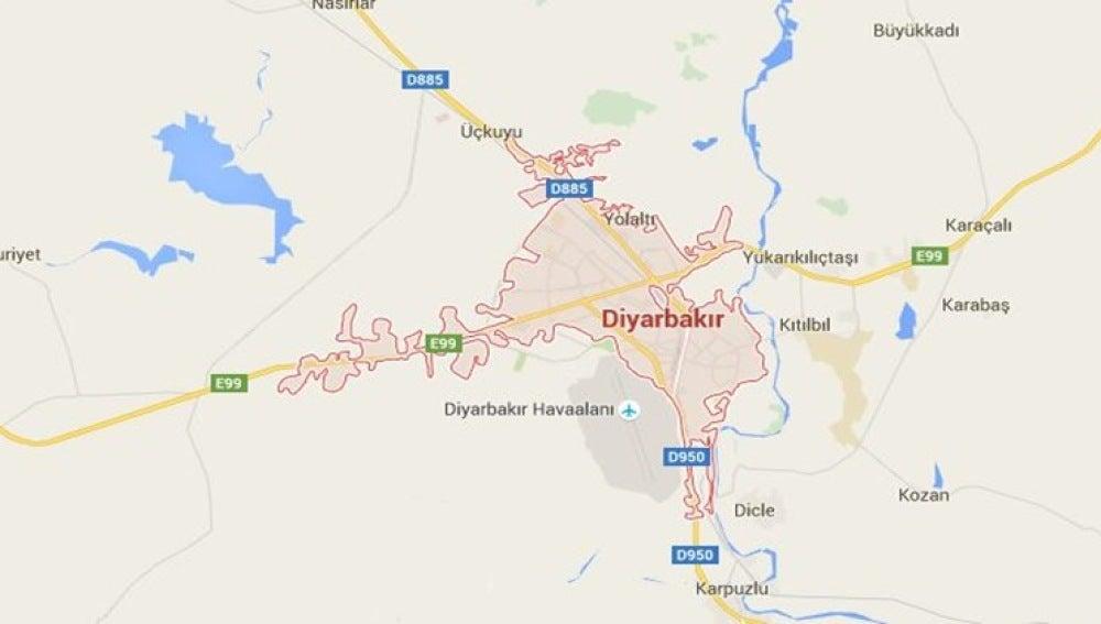 Zona del sureste turco donde se ha cometido el ataque