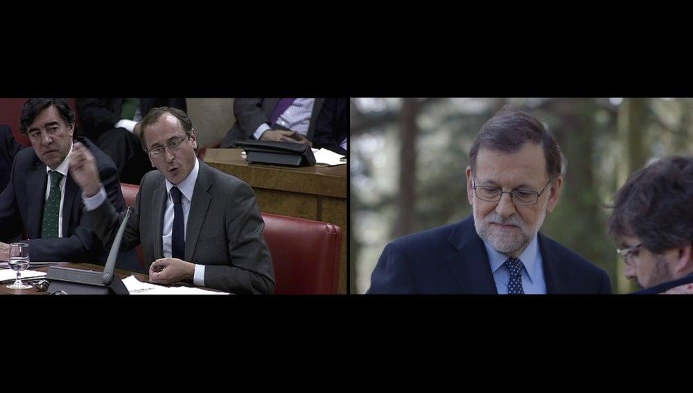 Rajoy reacciona a las palabras en el PP sobre Bárcenas