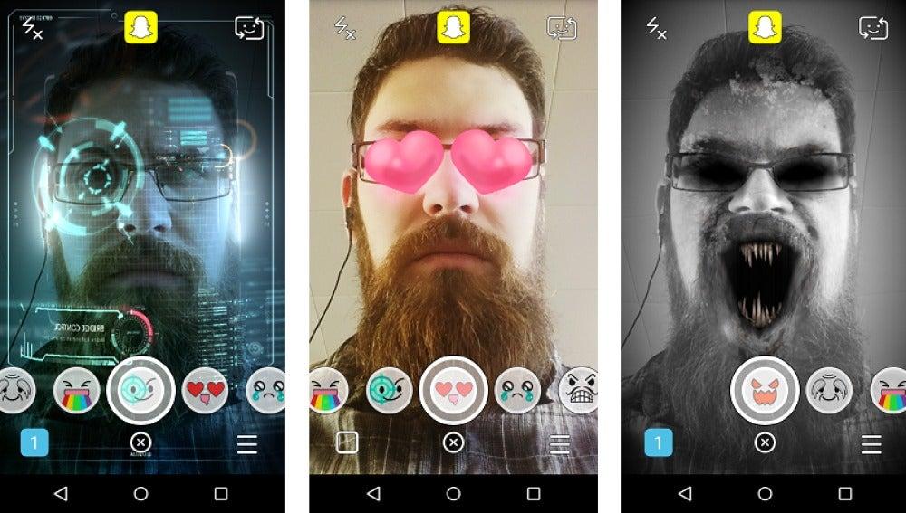 Resultado de imagen para realidad aumentada cara snapchat