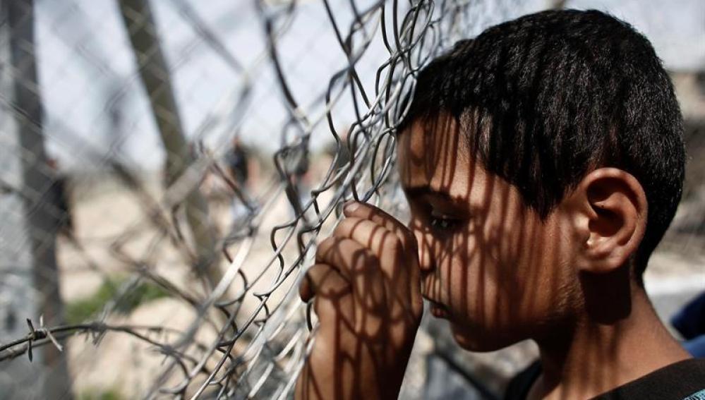Un niño refugiado, en el campamento de Idomeni