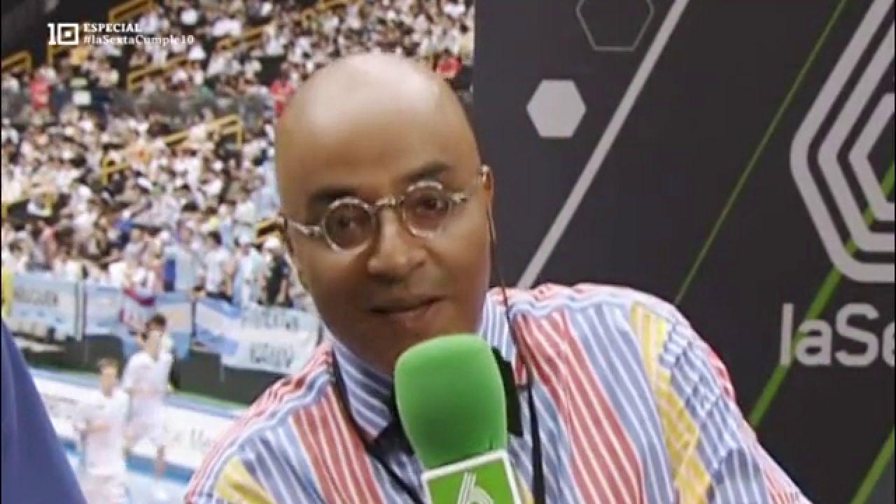 Andrés Montes, durante una retransmisión en laSexta