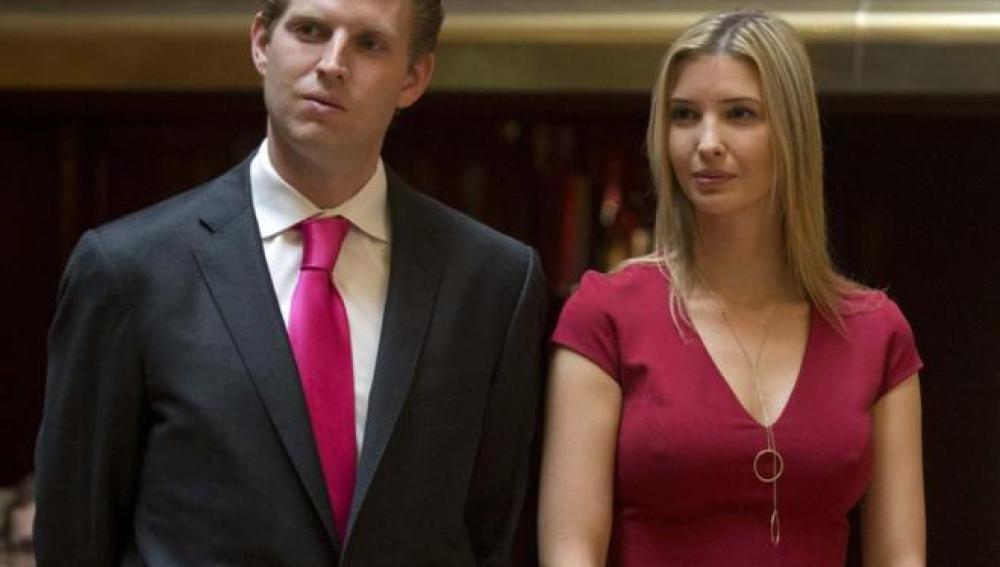 Eric e Ivanka Trump, hijos del magnate republicano