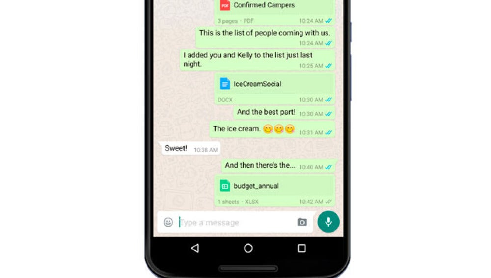Whatsapp permite compartir archivos de Drive