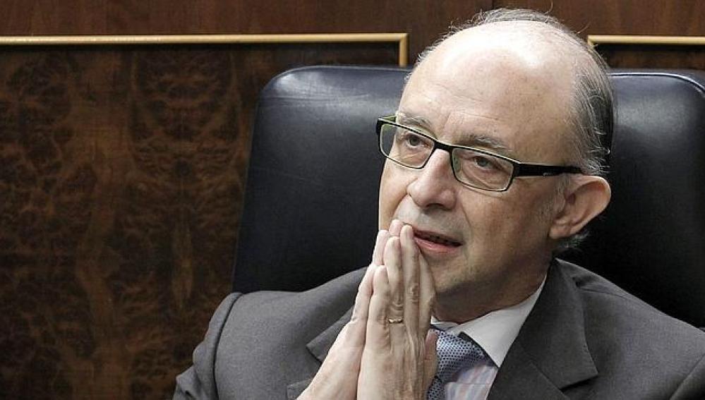 Cristóbal Montoro, en una sesión del Congreso