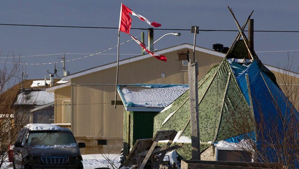 Comunidad aborigen en Canadá