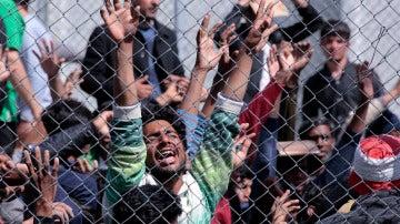 Un campo de refugiados en Grecia