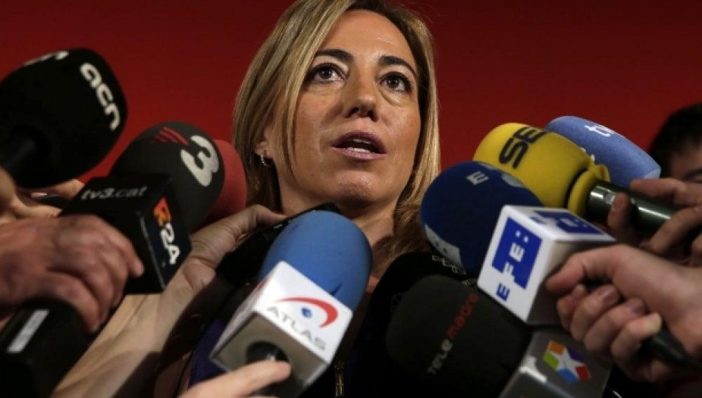 Carme Chacón en rueda de prensa