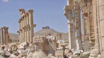 Vista de las ruinas del Castillo de Palmira