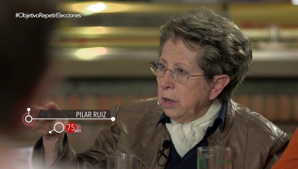 Pilar Ruiz, de 75 años, en El Objetivo