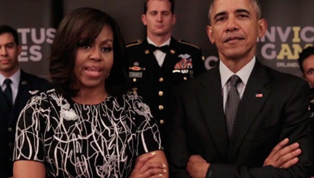 Los Obama desafían en un vídeo a la realeza británica