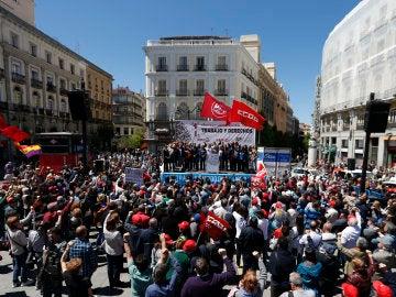Manifestación por el Día Internacional del Trabajo en Madrid