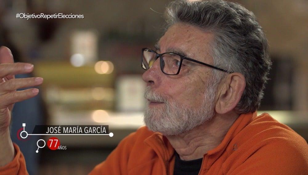 José María García, de 77 años, en El Objetivo