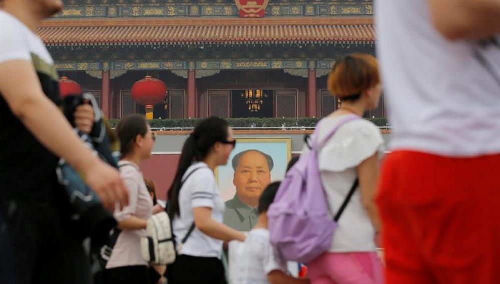 Ciudadanos chinos paseando