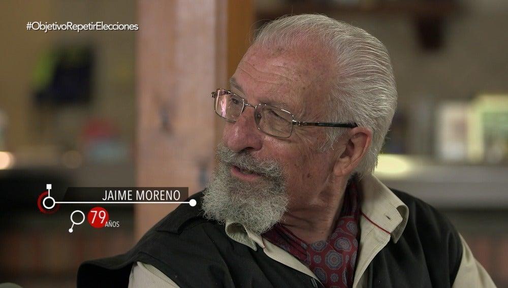 Jaime Moreno, jubilado de 79 años, en El Objetivo