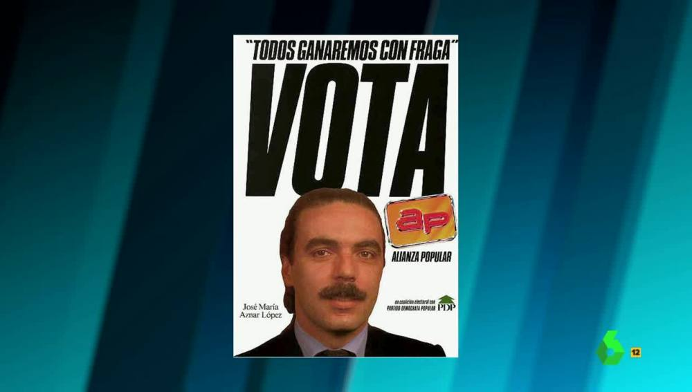 Cartel electoral de Aznar