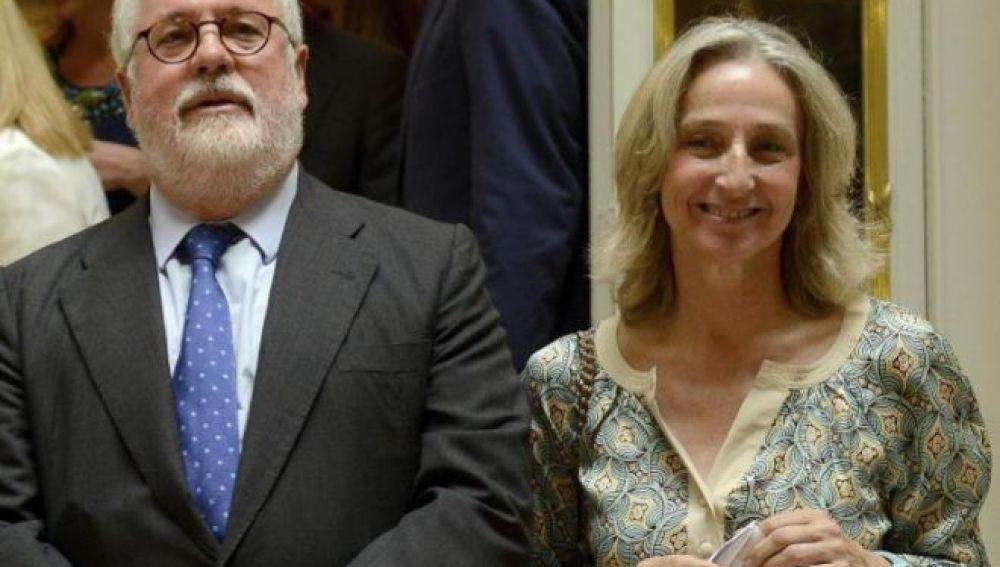 Miguel Arias Cañete y su mujer, Micaela Domecq