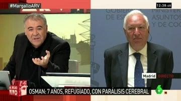 """Frame 0.47299 de: García-Margallo: """"Estamos todos volcados para traer a Osman a España"""""""