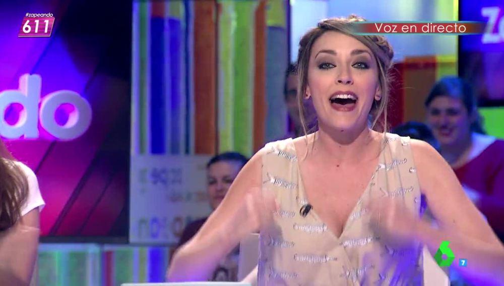 Así canta Anna Simon a una posible final de la Champions española