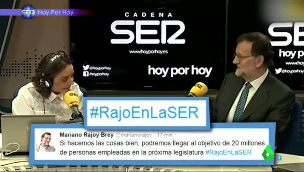 La metedura de pata del presidente en funciones en Twitter con #RajoEnLaSER