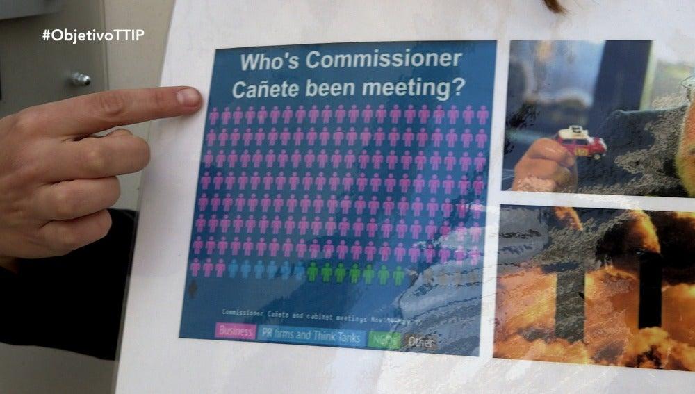 La agenda de Cañete en Bruselas: el 88,75% reuniones con empresas