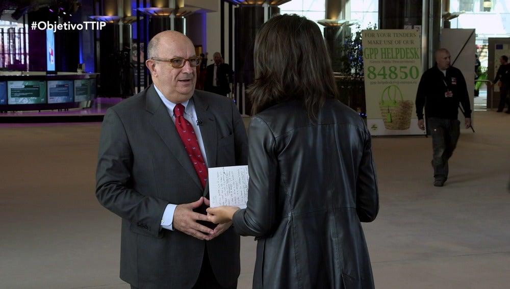 El eurodiputado del Partido Popular Europeo, Santiago Fisas, en El Objetivo