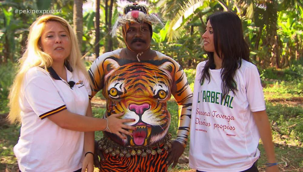 Las pulpeiras conocen a 'el hombre tigre'