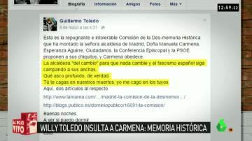 Willy Toledo insulta a Carmena