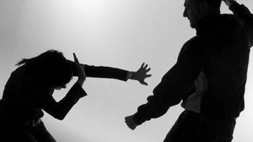 Escena de violencia machista