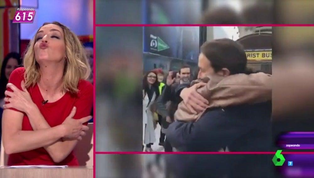 Anna Simon propone que Julio Iglesias acompañe el 'abrazo' de Garzón e Iglesias